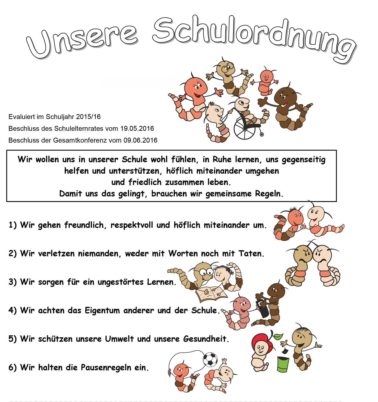 Frya-Fresena-Grundschule - Schulordnung